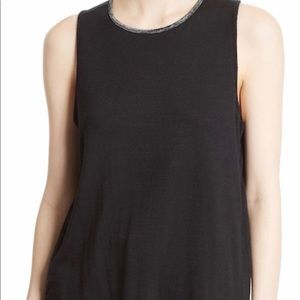 Rag & Bone Black & Gray Soft Knit Oasis Tank